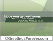 Get well ecards - Greeting ecards: Hope you get well soon