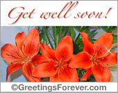 Get well ecards - Greeting ecards: Get well soon!