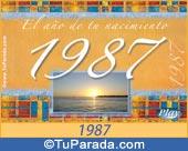 Tarjeta de 1987