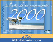 Tarjeta de 2000