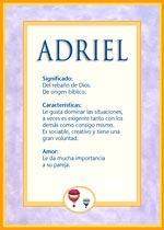 Origen y significado de Adriel