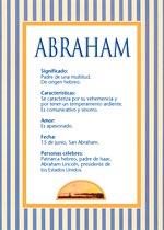 Nombre Abraham