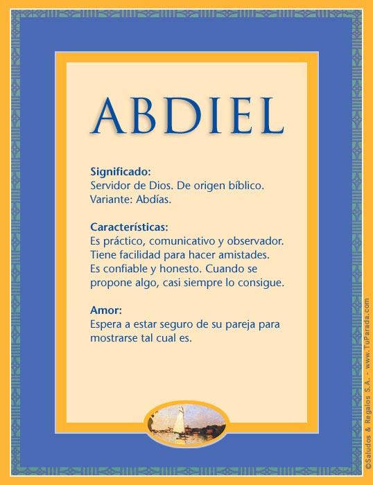 Abdiel, imagen de Abdiel