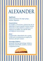 Nombre Alexander