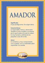 Origen y significado de Amador