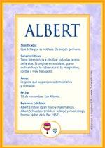 Origen y significado de Albert