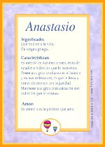 Nombre Anastasio