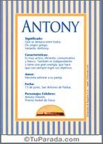 Nombre Antony