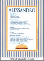 Origen y significado de Alessandro