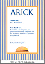 Nombre Arick