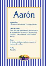 Nombre Aarón