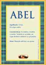 Origen y significado de Abel