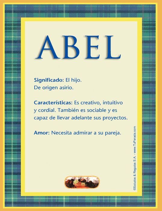 Abel, imagen de Abel