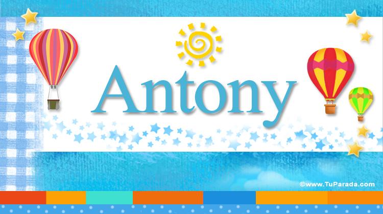 Anthony, imagen de Anthony