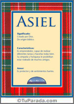 Origen y significado de Asiel