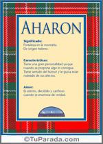 Nombre Aharon
