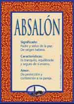 Nombre Absalón