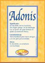 Origen y significado de Adonis