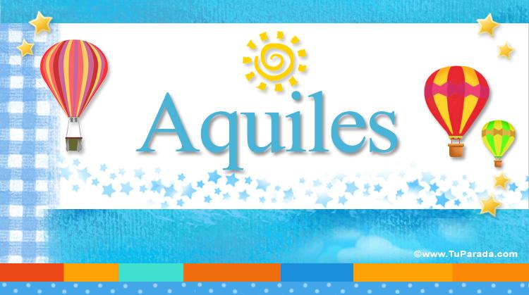 Aquiles, imagen de Aquiles