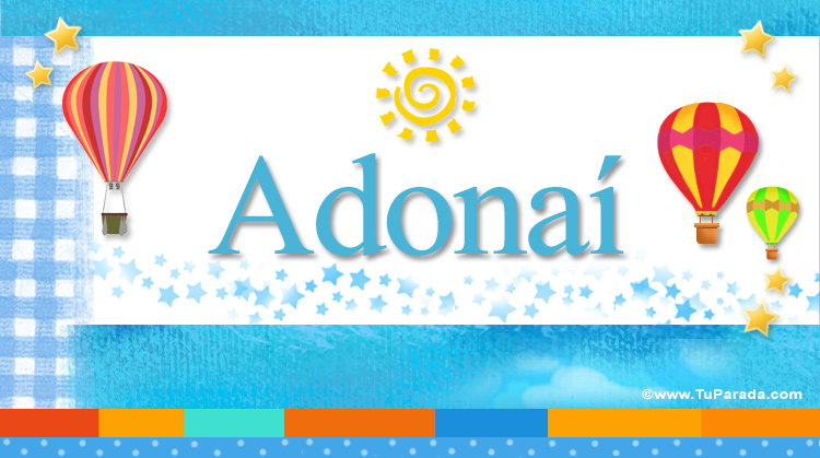 Adonaí, imagen de Adonaí