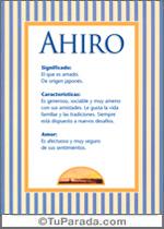 Nombre Ahiro