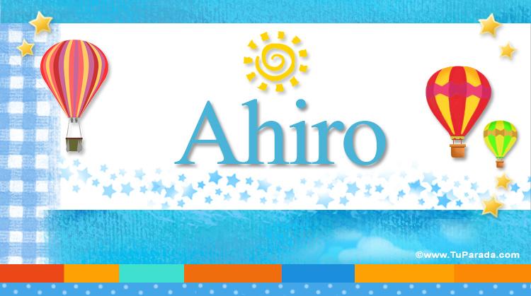 Ahiro, imagen de Ahiro
