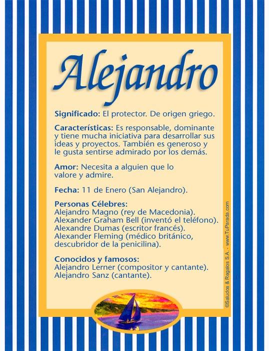 Alejandro, imagen de Alejandro