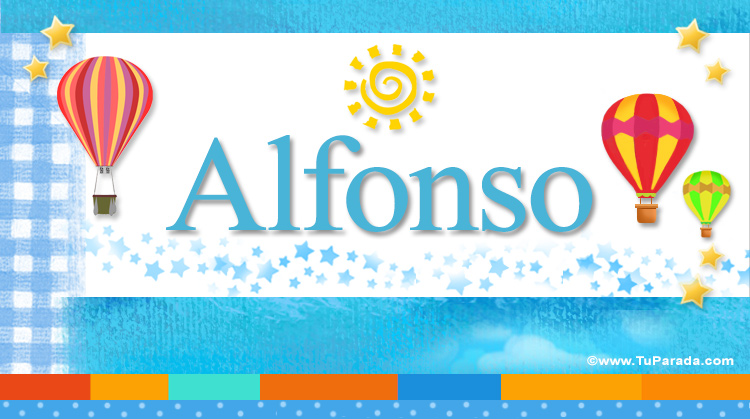 Alfonso, imagen de Alfonso