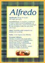 Origen y significado de Alfredo