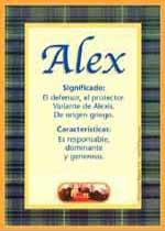 Nombre Alex