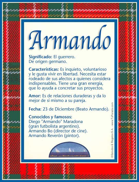 Armando, imagen de Armando