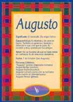 Origen y significado de Augusto