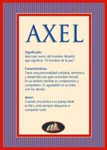 Nombre Axel