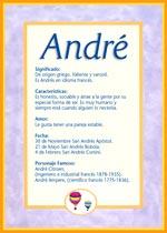 Nombre André