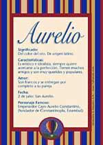 Origen y significado de Aurelio