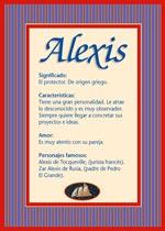 Nombre Alexis