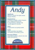 Origen y significado de Andy