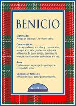 Nombre Benicio