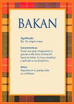 Origen y significado de Bakan