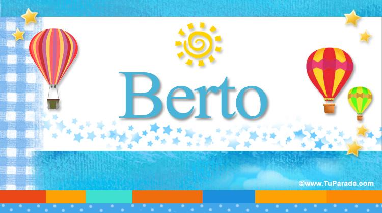Berto, imagen de Berto