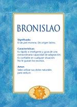 Nombre Bronislao