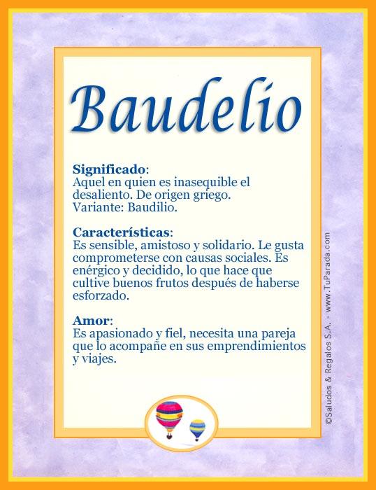 Baudelio, imagen de Baudelio