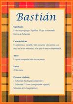Origen y significado de Bastián