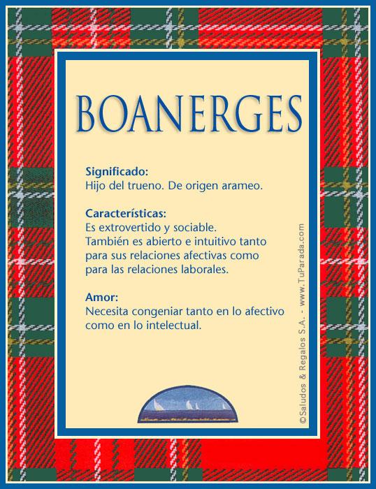 Boanerges, imagen de Boanerges