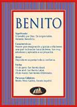 Origen y significado de Benito