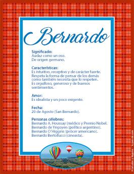 Nombre Bernardo