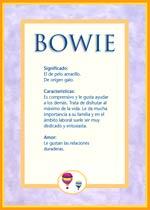 Nombre Bowie