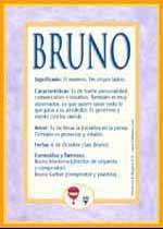 Nombre Bruno