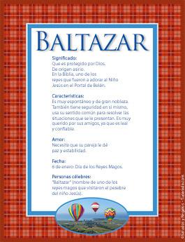 Nombre Baltazar