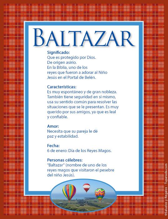 Baltazar, imagen de Baltazar